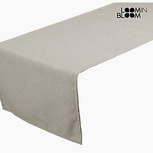 Table Runner Beige (40 x 13 x 0,5 cm) by Loom In Bloom-Universal Store London™