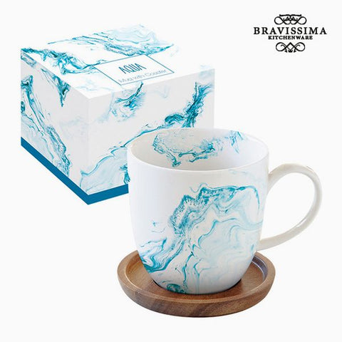 Cup with Plate Porcelain by Bravissima Kitchen-Universal Store London™