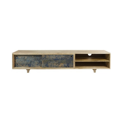 TV Table Mango wood (180 x 40 x 38 cm)-Universal Store London™