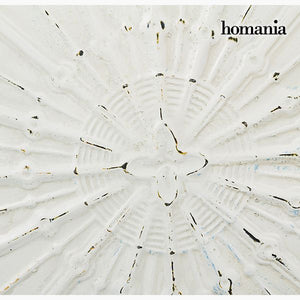 Hanging decoration Circular White Bronze (91 x 109 x 10 cm) by Homania