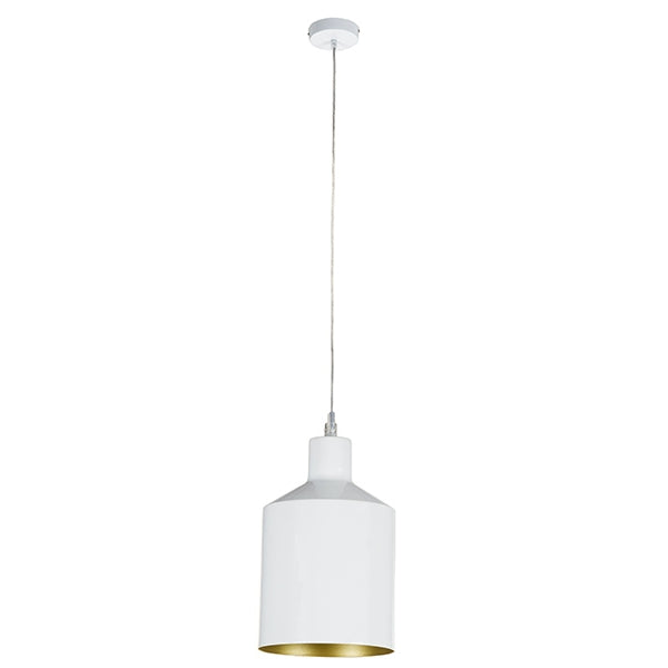 Ceiling Light White Iron (13 x 13 x 23 cm) by Shine Inline-Universal Store London™