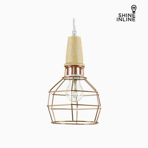 Image of Ceiling Light Copper Beech wood Iron (19 x 19 x 28 cm) by Shine Inline-Universal Store London™