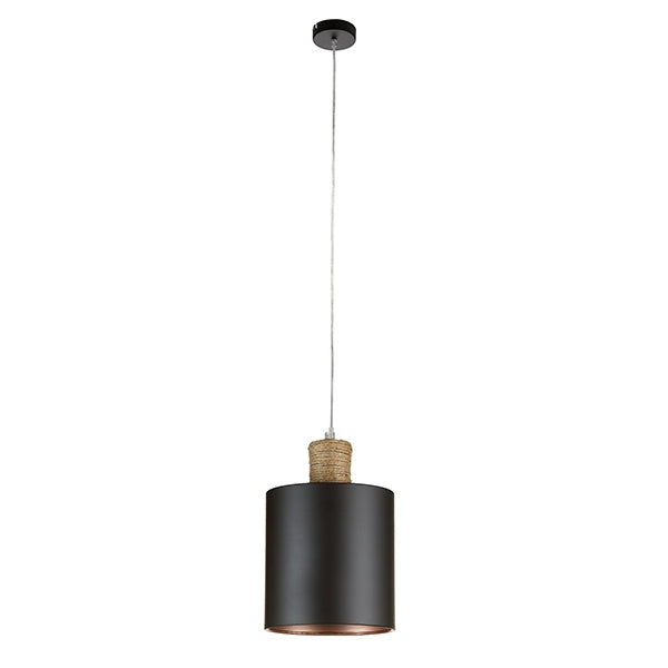Ceiling Light Black Iron Rope (16,5 x 16,5 x 25 cm) by Shine Inline-Universal Store London™