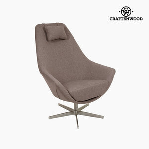 Armchair Grey Polyester (81 x 89 x 102 cm) by Craftenwood-Universal Store London™