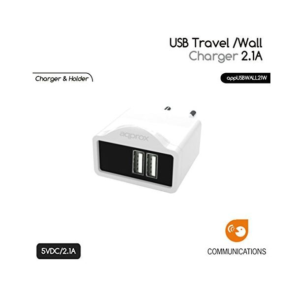 Wall Charger approx! AATCAT0038 APPUSBWALL21W USB-Universal Store London™