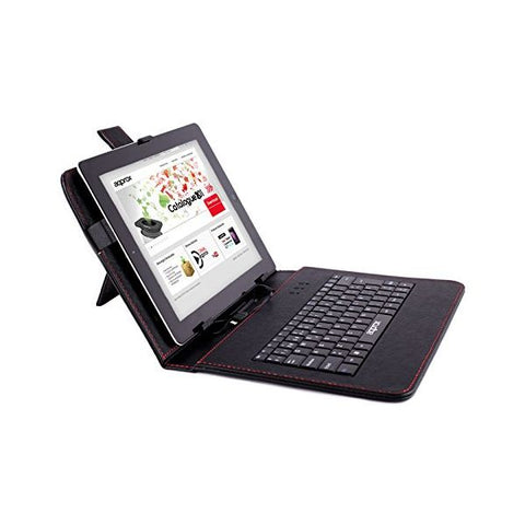 "Tablet and Keyboard Case approx! APPIPCK05 10.1"" Leather Black-Universal Store London™"