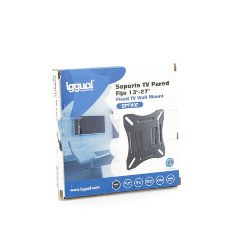 "Fixed TV Support iggual SPTV07 IGG314616 13""-27"" Black-Universal Store London™"