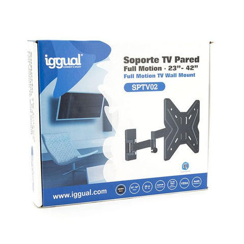 "TV Mount iggual SPTV02 IGG314661 23""-42"" Black-Universal Store London™"