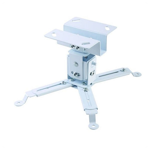 Tilt and Swivel Ceiling Mount for Projectors iggual STP01 IGG314708 -22,5 - 22,5° -15 - 15° Iron White-Universal Store London™