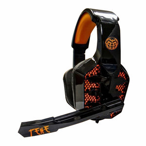 Gaming Headset with Microphone iggual TEKE Black Orange-Universal Store London™