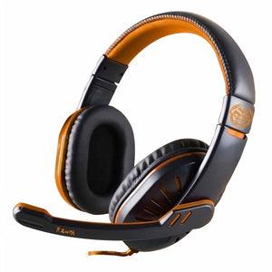 Gaming Headset with Microphone iggual ONAJI Black Orange-Universal Store London™