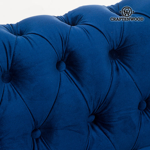 2 Seater Chesterfield Sofa Velvet Blue - Relax Retro Collection by Craftenwood-Universal Store London™