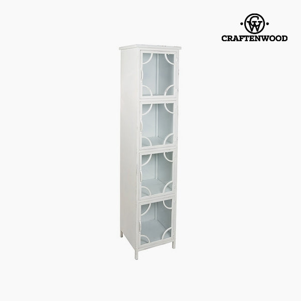 Showcase Iron White (4 shelves) (40 x 40 x 172 cm) by Craftenwood-Universal Store London™