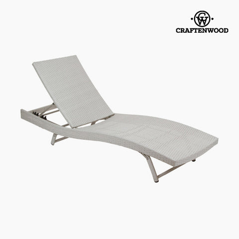 Sun-lounger (194 x 28 x 65 cm) Rattan Polyester by Craftenwood-Universal Store London™