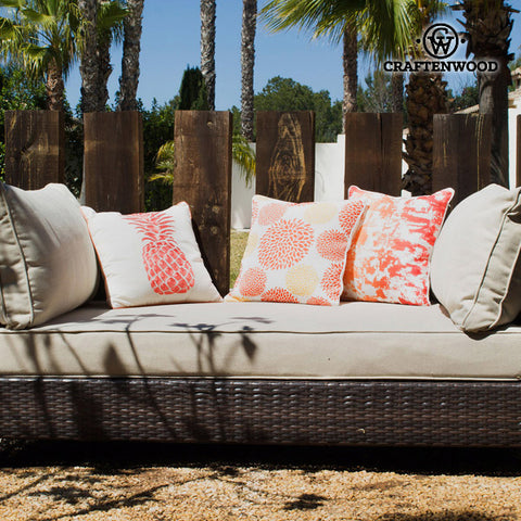 Garden sofa (184 x 91 x 78 cm) Rattan Polyester by Craftenwood-Universal Store London™