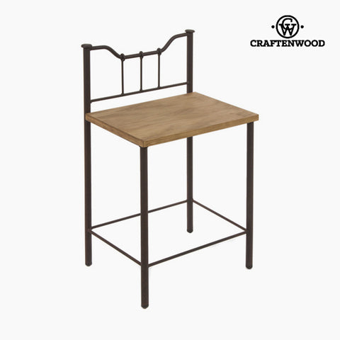 Nightstand Wood Ironwork Black - Perfect Collection by Craftenwood-Universal Store London™