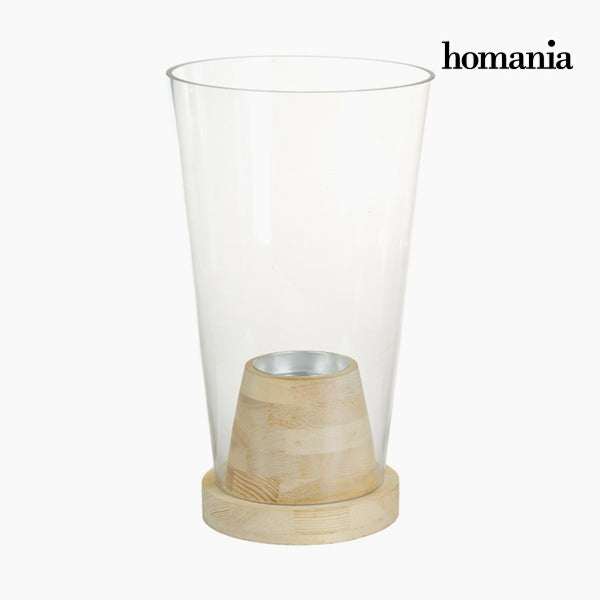 Vase Glass Wood - Pure Crystal Deco Collection by Homania-Universal Store London™