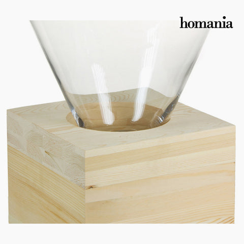 Image of Centerpiece Glass Wood - Pure Crystal Deco Collection by Homania-Universal Store London™