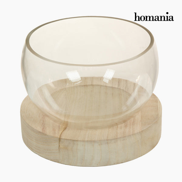 Centerpiece Glass Wood - Pure Crystal Deco Collection by Homania-Universal Store London™