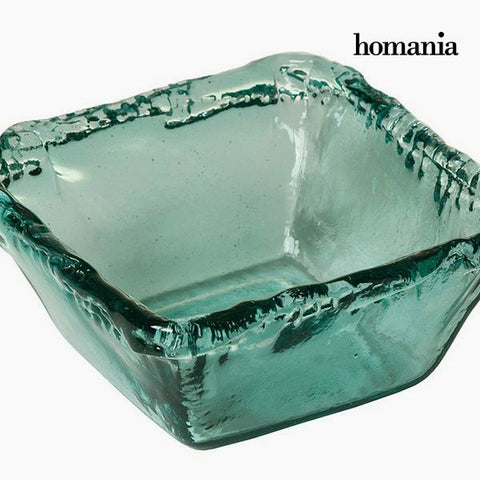 Image of Recycled Glass Bowl Transparent - Pure Crystal Deco Collection by Homania-Universal Store London™