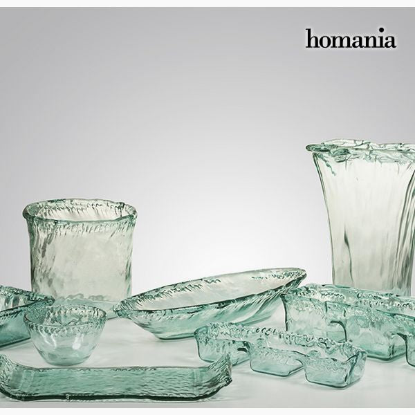 Recycled Glass Bowl Transparent - Pure Crystal Deco Collection by Homania-Universal Store London™