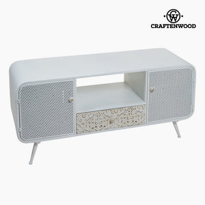 Television Table (120 x 40 x 54 cm) Fir wood White-Universal Store London™