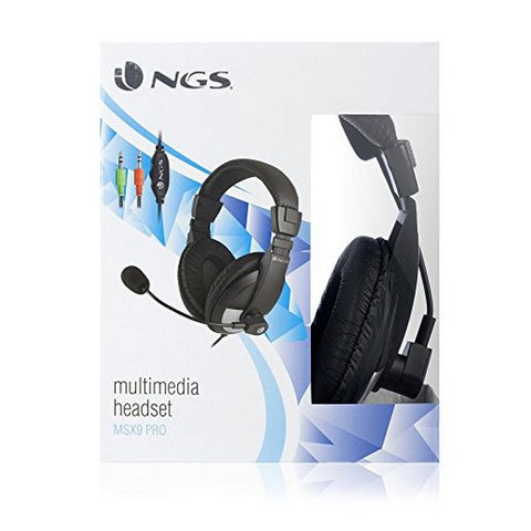 Image of Headphone with Microphone NGS MSX9 Jack 3,5 mm Black-Universal Store London™