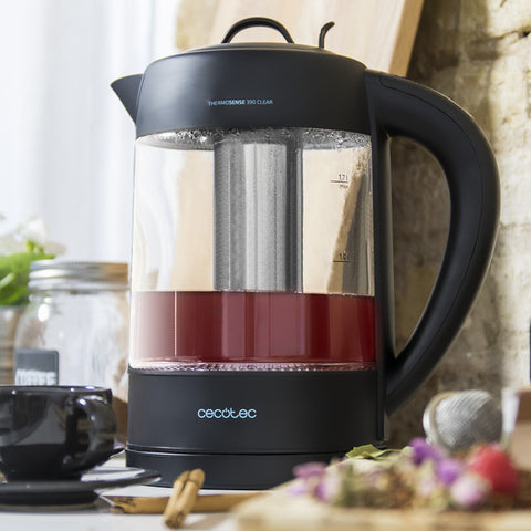 Image of Water Kettle and Electric Teakettle Cecotec ThermoSense 390 Clear 2200W 1,7 L-Universal Store London™