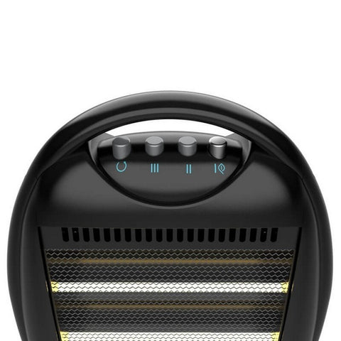 Image of Halogen Heater Cecotec Ready Warm 7100 Quartz Rotate 1200W Black-Universal Store London™