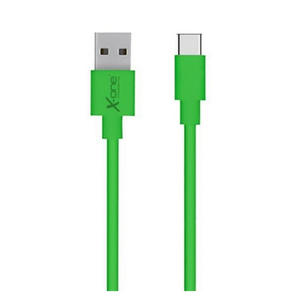 USB 2.0 A to USB C Cable Ref. 101196 Green-Universal Store London™
