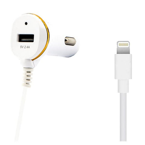 Car Charger Ref. 138215 USB Cable Lightning White-Universal Store London™
