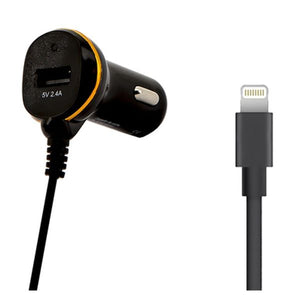 Car Charger Ref. 138222 USB Cable Lightning Black-Universal Store London™