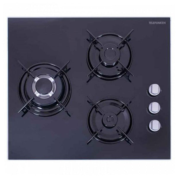 Gas Hob TELEFUNKEN 169940 7500W 60 cm Black Crystal-Universal Store London™