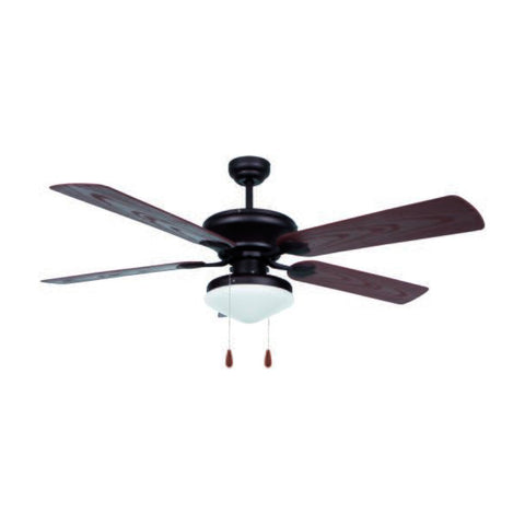 Ceiling Fan with Light Obergozo CP 73132 60W Black-Universal Store London™