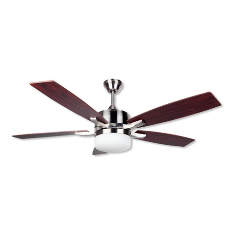 Ceiling Fan with Light Obergozo CP 79132 60W Silver Brown-Universal Store London™