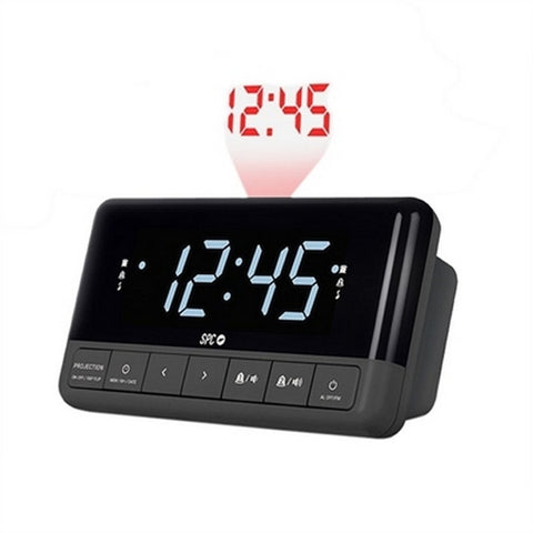 Radio Alarm Clock with LCD Projector SPC 4581N 4,3'''' Grey-Universal Store London™
