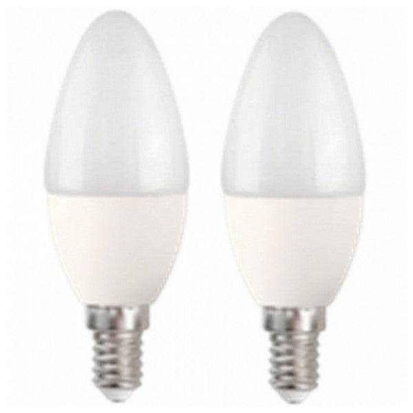 Candle LED Light Bulb MegaLed CF-50WP2 5W E14 2700K 390 lm (2 pcs) White-Universal Store London™