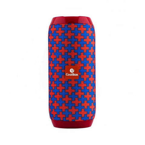 Bluetooth Speakers CoolBox COOLTUBE 10W 1200 mAh FM Red Blue-Universal Store London™