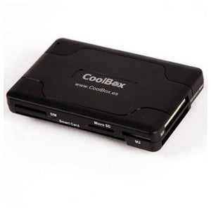 Smart Card Reader CoolBox CRE-065 USB 2.0 Black-Universal Store London™
