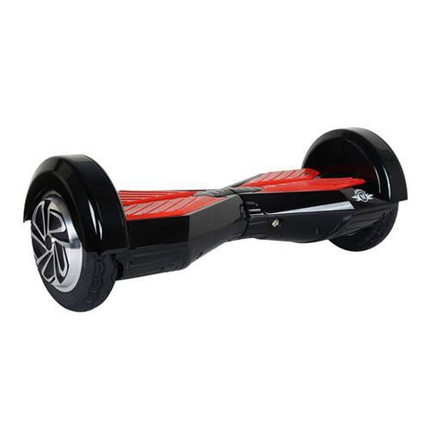 Megawheels TW02-1 8-Inch Hoverboard Black + Red-Universal Store London™