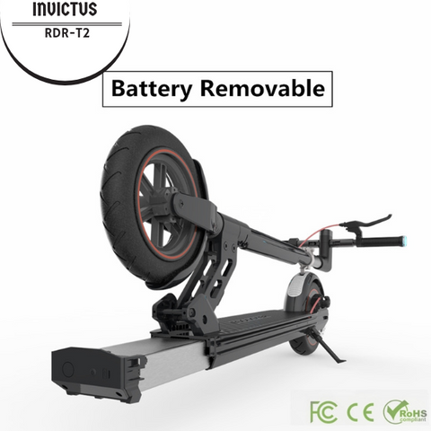 Electric Kick Scooter Invictus RDR-T2 with removable Lithium Battery-Universal Store London™