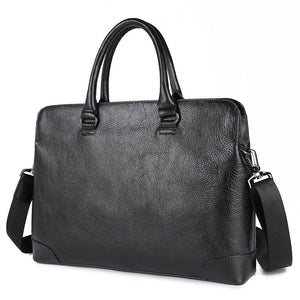 'Champlain' Leather Laptop Slim Briefcase-Universal Store London™