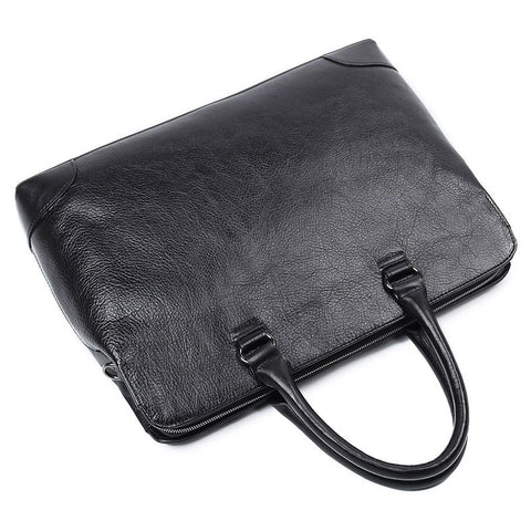 Image of 'Champlain' Leather Laptop Slim Briefcase-Universal Store London™