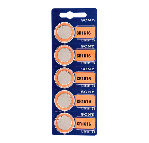 Sony CR1616 3V Lithium Button Cell Batteries (pack of 5)-Universal Store London™