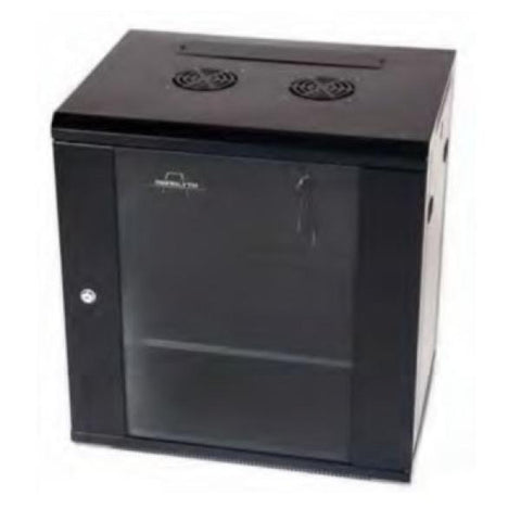 Wall-mounted Rack Cabinet Monolyth 202020 12 U 600 x 600 mm 1F-2V-2L Black-Universal Store London™