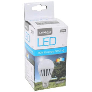 Spherical LED Light Bulb Omega E27 7W 530 lm 2700 K Warm light-Universal Store London™