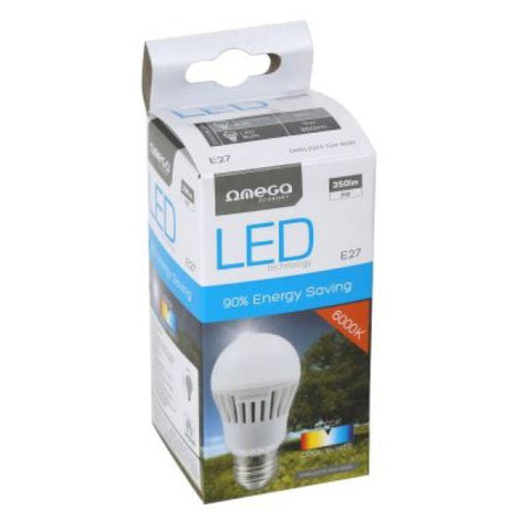 Spherical LED Light Bulb Omega E27 5W 300 lm 6000 K White light-Universal Store London™