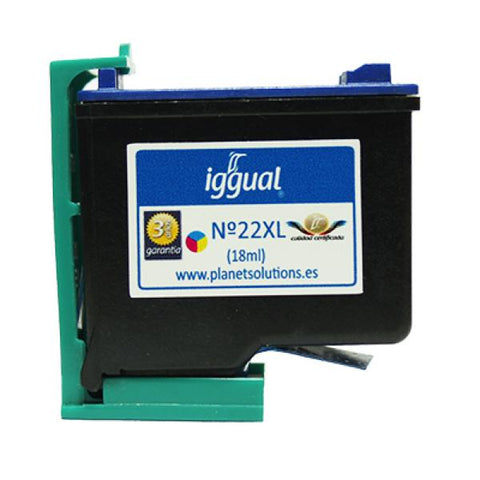 Image of Recycled Ink Cartridge iggual HP PSIC9352C Colour-Universal Store London™