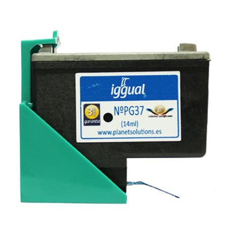 Image of Recycled Ink Cartridge iggual Canon PSIPG37 Black-Universal Store London™