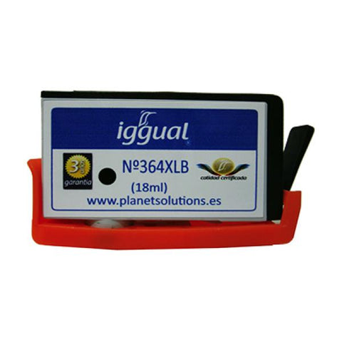 Image of Recycled Ink Cartridge iggual HP PSICN684EE Black-Universal Store London™